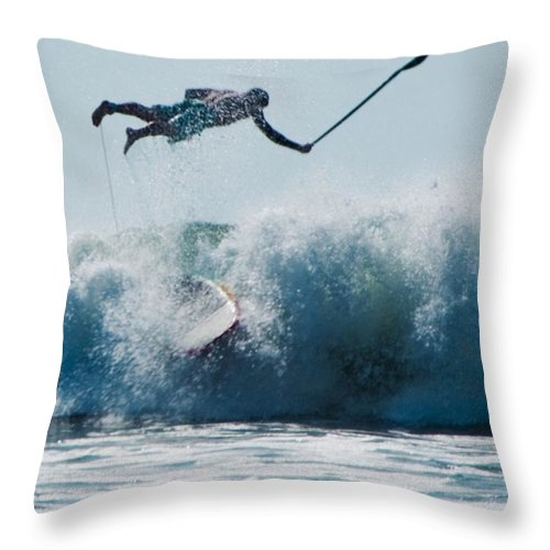 Surf Throw Pillow featuring the photograph This Is Going To Hurt by Steven Natanson