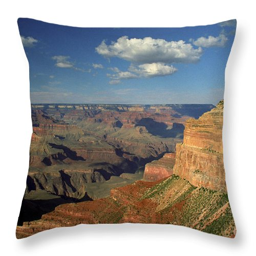 Grand Canyon Throw Pillow featuring the photograph This Is My Father's World by Kathy McClure