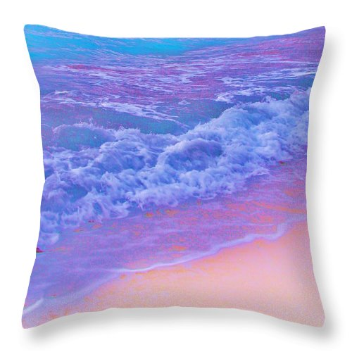 Contemporary Throw Pillow featuring the photograph This Is One Hot Beach by Margaret Bobb
