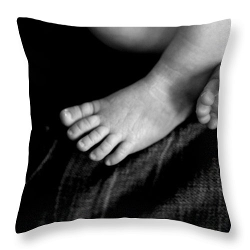 Baby Throw Pillow featuring the photograph This Little Piggy... by Angela Rath