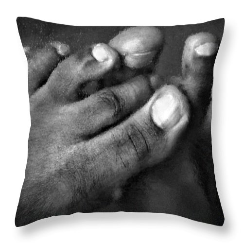 Feet Throw Pillow featuring the photograph This Little Piggy by Jacqueline Milner