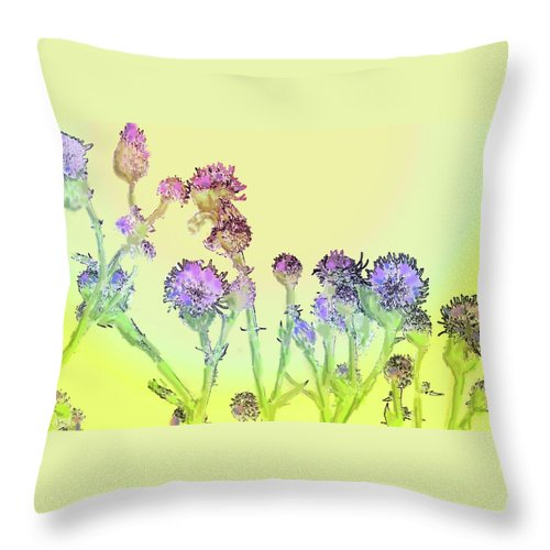 Thistles Throw Pillow featuring the digital art Thistles Under The Sun by Ian MacDonald
