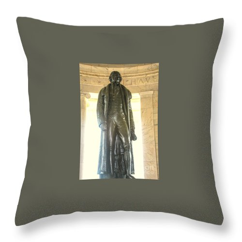 Sally's Pictures Throw Pillow featuring the photograph Thomas Jefferson by William Rogers