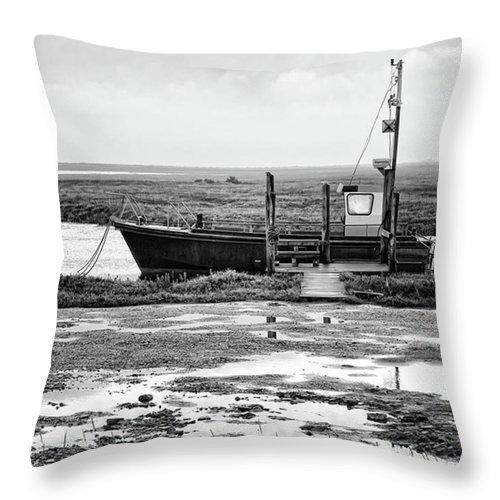 Amazing Throw Pillow featuring the photograph Thornham Harbour, North Norfolk by John Edwards