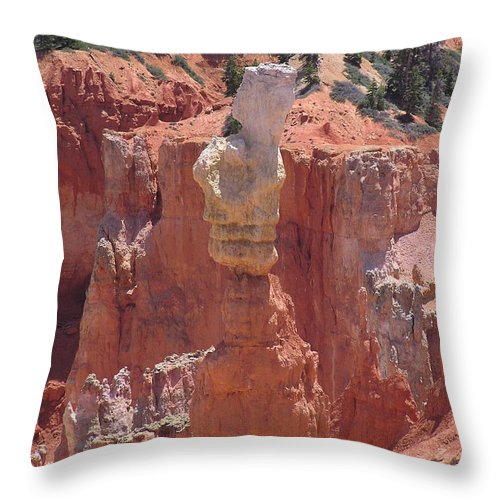 Bryce Throw Pillow featuring the photograph Thor's Hammer by Louise Magno