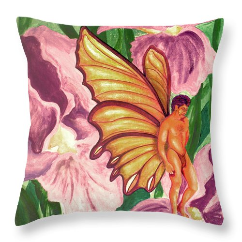 Thought Throw Pillow featuring the painting Thought by Bobby Jones