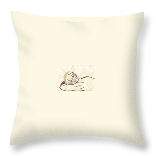 Native Americain Throw Pillow featuring the painting Thought by Steve Hester