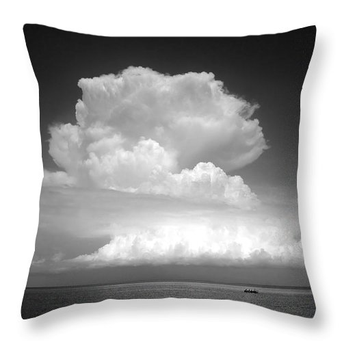 Storm Throw Pillow featuring the photograph Threatening by David Lee Thompson