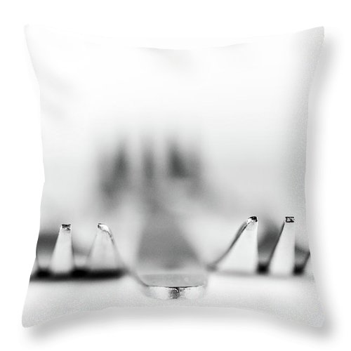 Fork Throw Pillow featuring the photograph Three Forks by Gary Gillette