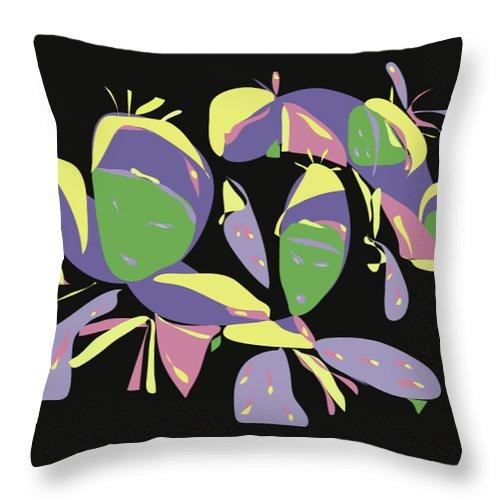 Digital Throw Pillow featuring the digital art Three Geishas by ME Kozdron