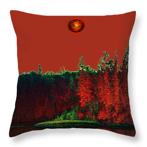 Red Planet Throw Pillow featuring the photograph Three Moons by Andrea Lawrence