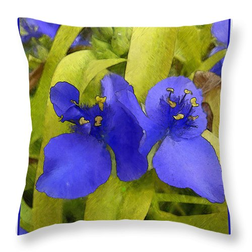 Ebsq Throw Pillow featuring the photograph Three Oclocks by Dee Flouton