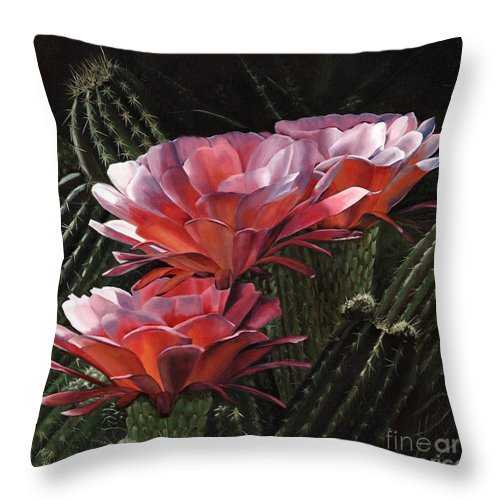Art Throw Pillow featuring the painting Three Sisters by Mary Rogers