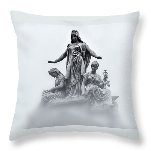 Washington Dc Throw Pillow featuring the photograph Three Woman by Bill Cannon