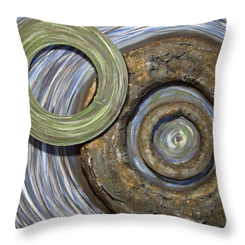 Circles Throw Pillow featuring the painting Threes A Crowd by Jacqueline Athmann