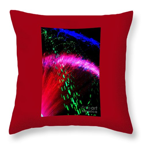 Neon Throw Pillow featuring the digital art Through The Halo by Lauren Powell