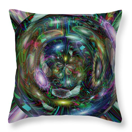 Abstract Throw Pillow featuring the digital art Through The Looking Glass by Tim Allen