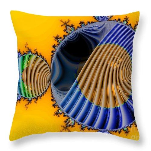 Julia Fractal Throw Pillow featuring the digital art Thru a Julia Lens by Ron Bissett