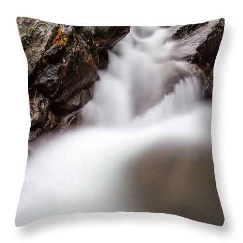 Nature Throw Pillow featuring the photograph Thru The Rock Color by Lukasz Jarocki