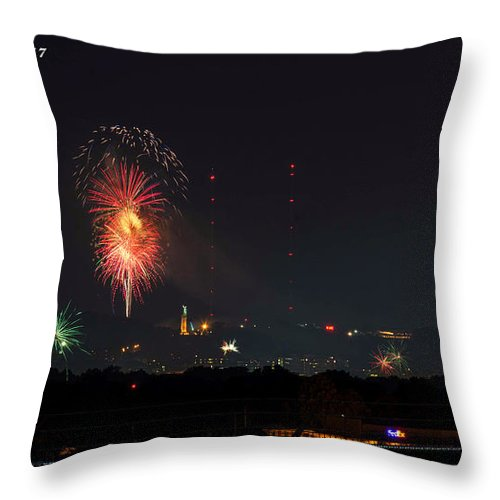 Birmingham Al Throw Pillow featuring the photograph Thunder On Red Mt by Jeffery Gordon