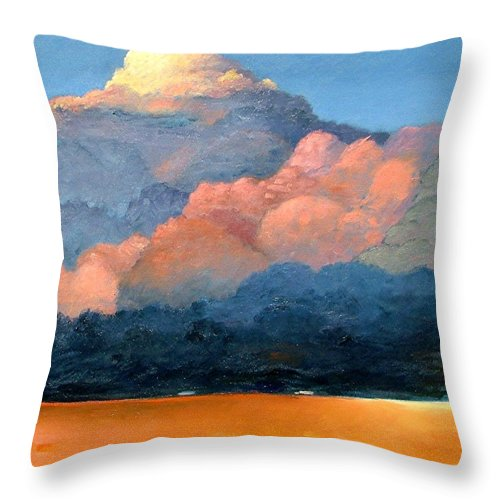 Landscape Throw Pillow featuring the painting Thundercap by Gary Coleman