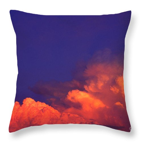 Thunderhead At Sunset Throw Pillow featuring the photograph Thunderhead At Sunset by Thomas R Fletcher