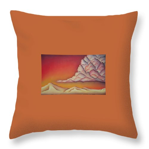 Landscape Throw Pillow featuring the painting Thunderhead by Jeniffer Stapher-Thomas