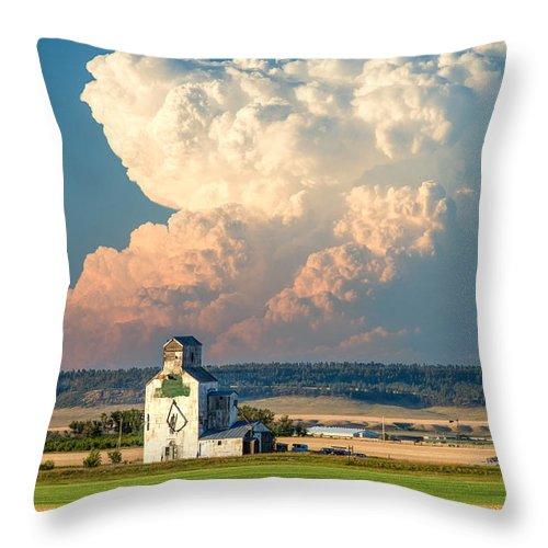 Thunderhead Throw Pillow featuring the photograph Thunderhead by Todd Klassy
