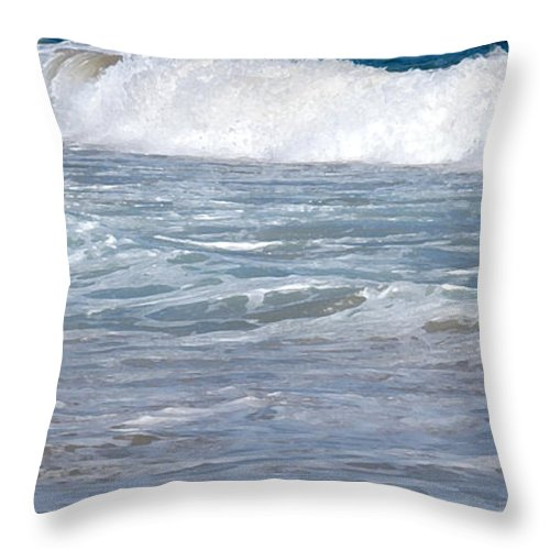 Wave Throw Pillow featuring the photograph Thundering Roar by Ian MacDonald