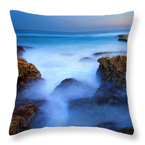 Pennington Bay Throw Pillow featuring the photograph Tidal Bowl Boil by Mike Dawson