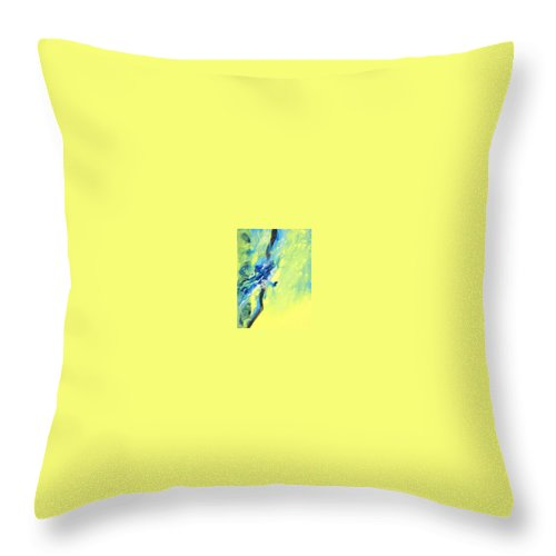 Tidal Surge Throw Pillow featuring the painting Tidal Surge by Bonnie Carter