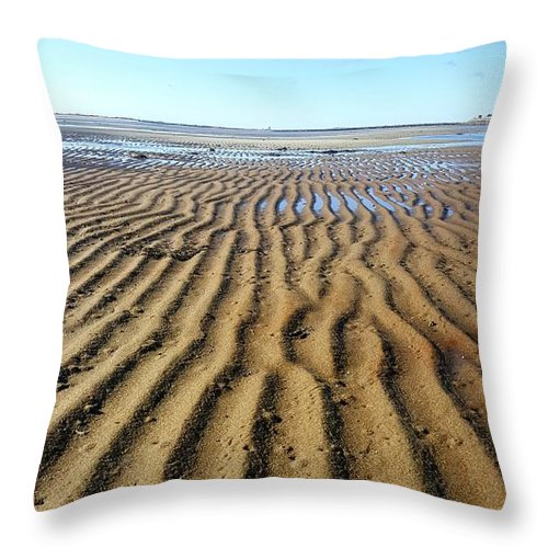 Tides Throw Pillow featuring the photograph Tidal Trails by Eric Laprade