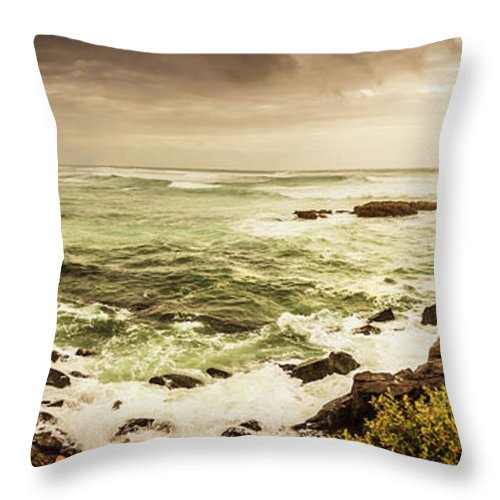 Wide Throw Pillow featuring the photograph Tidal vastness by Jorgo Photography - Wall Art Gallery