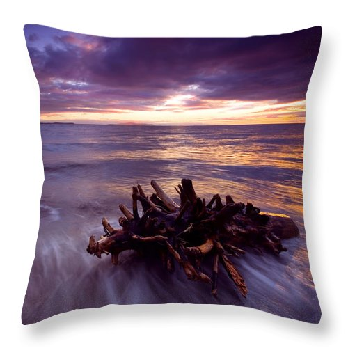 Sunset Throw Pillow featuring the photograph Tide Driven by Mike Dawson