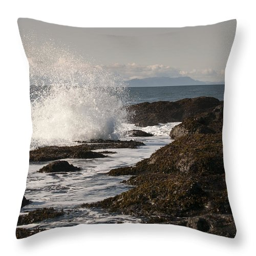 Waves Throw Pillow featuring the photograph Tide Pool Wave by Chad Davis