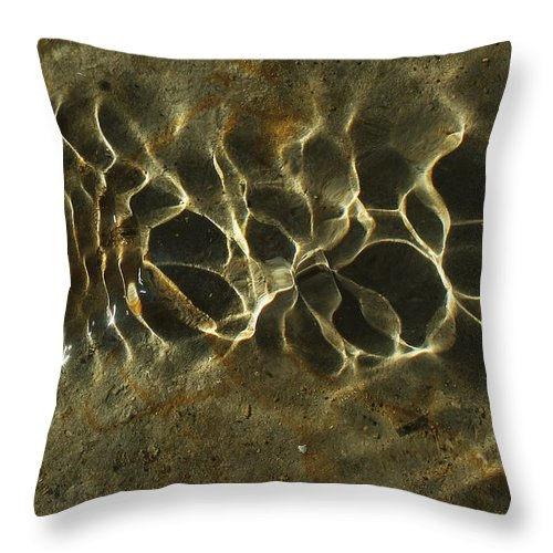 Tide Throw Pillow featuring the photograph Tide Ripple by Steve Somerville