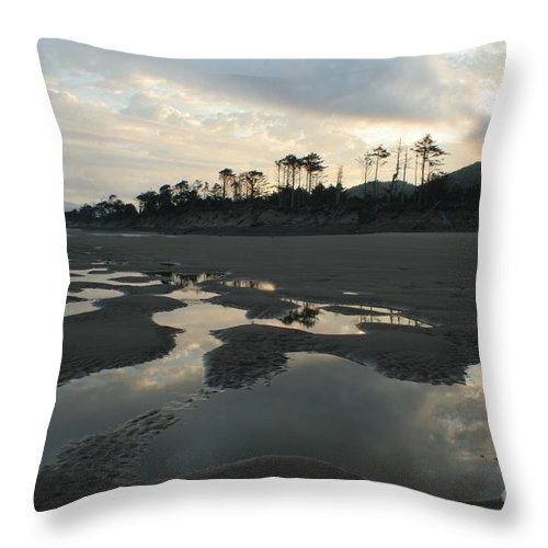 Oregon Throw Pillow featuring the photograph Tidepools At Dawn by Idaho Scenic Images Linda Lantzy