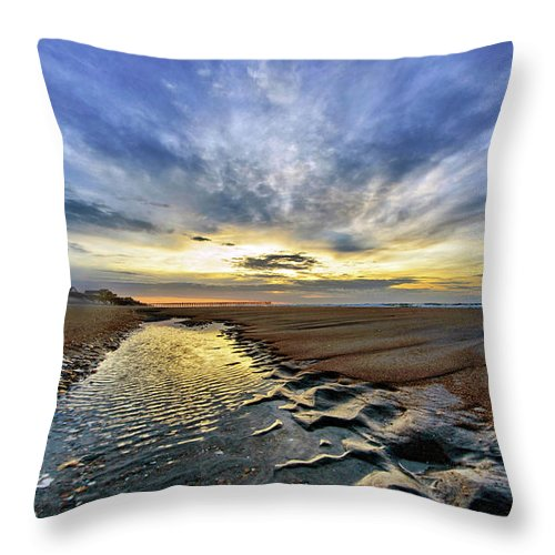 Sunrise Throw Pillow featuring the photograph Tides by DJA Images