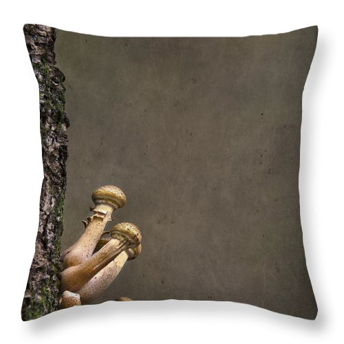 Fungi Throw Pillow featuring the photograph Ties That Bind by Evelina Kremsdorf