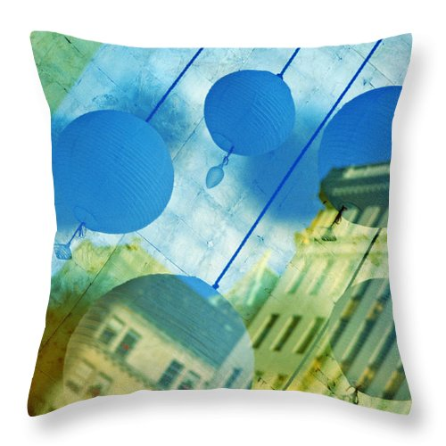 New York Throw Pillow featuring the photograph Tiffanys by Skip Hunt