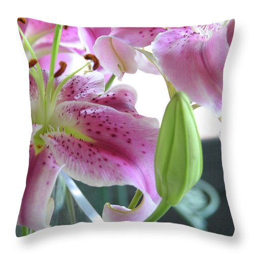 Photography Throw Pillow featuring the photograph Tiger Lilies by Julianne Felton