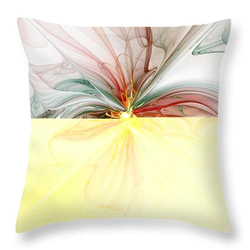 Digital Art Throw Pillow featuring the digital art Tiger Lily by Amanda Moore