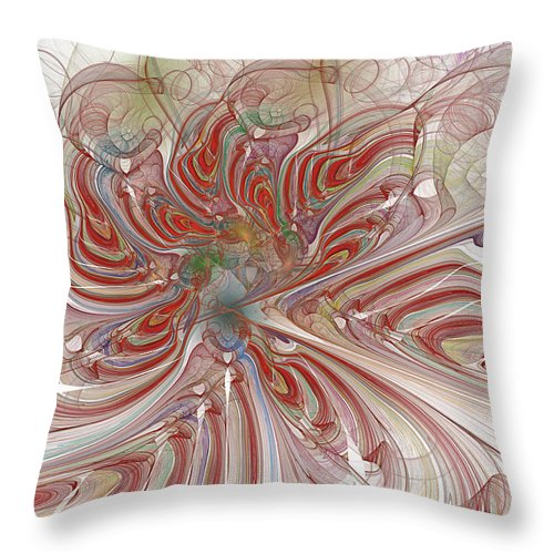 Mary Raven Throw Pillow featuring the digital art Tiger Orchid by Mary Raven