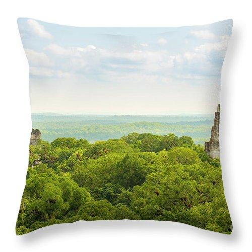 Tikal Throw Pillow featuring the photograph Tikal National Park Guatemala by Tim Hester