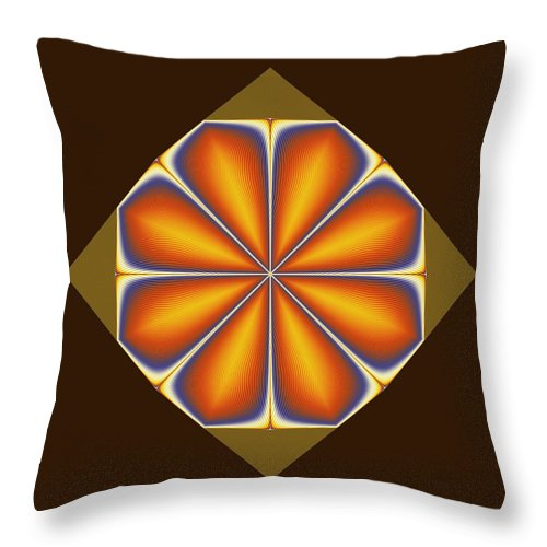 Fractal Throw Pillow featuring the digital art Tile by Richard Ortolano