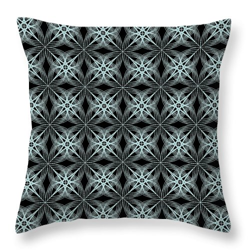 Abstract Throw Pillow featuring the digital art Tiles.2.274 by Gareth Lewis
