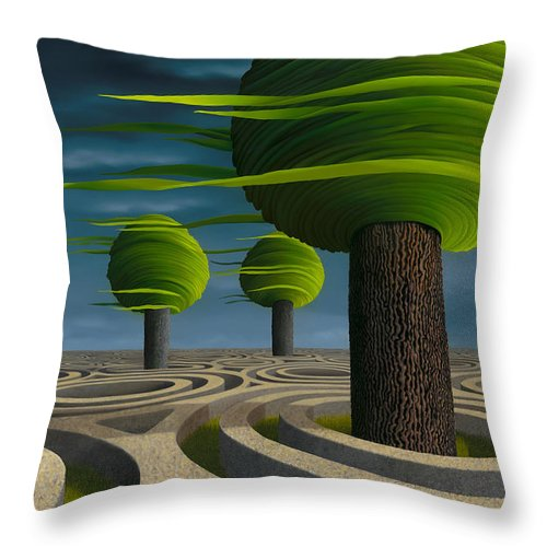 Tree Throw Pillow featuring the painting Tilia Arbora by Patricia Van Lubeck