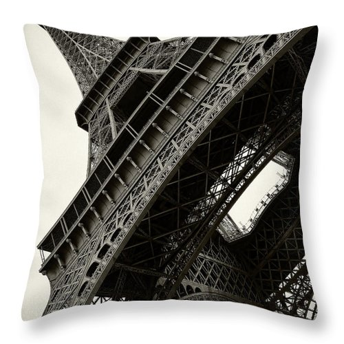 France Throw Pillow featuring the photograph Tilted Eiffel by Stefan Nielsen
