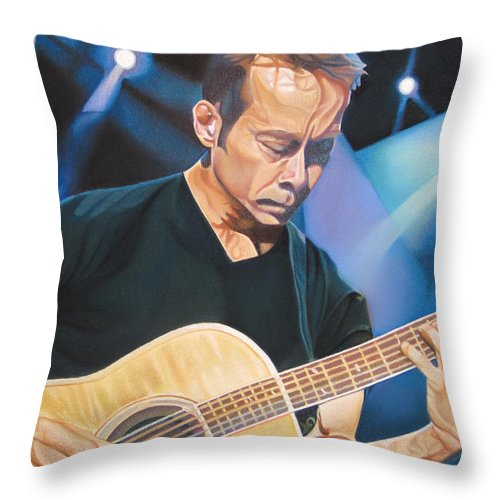 Tim Reynolds Throw Pillow featuring the drawing Tim Reynolds And Lights by Joshua Morton