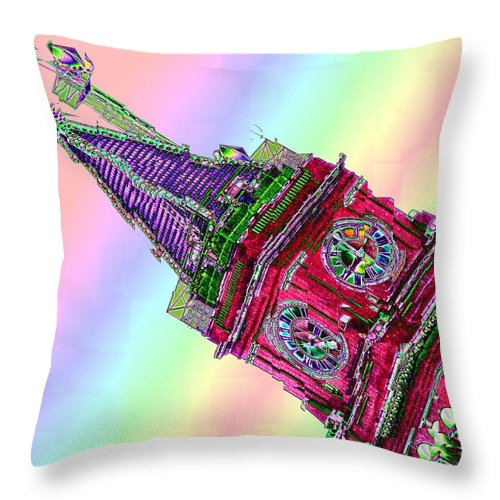 Seattle Throw Pillow featuring the photograph Time Cubed by Tim Allen